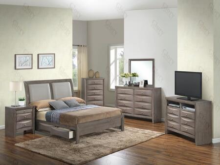 Glory Furniture G1505DDKSB2NTV2 G1505 King Bedroom Sets