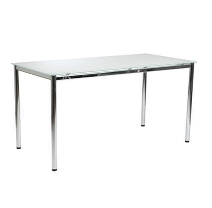 Euro Style 27730CB27730WHT Nate Series  Desk