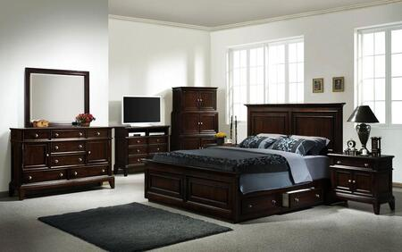Accent HC875531BED Lancaster Series  King Size Storage Bed