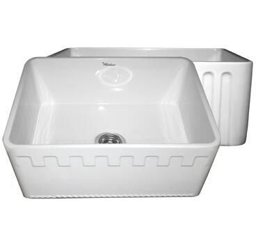 Whitehaus WHFLATN2418BL Kitchen Sink
