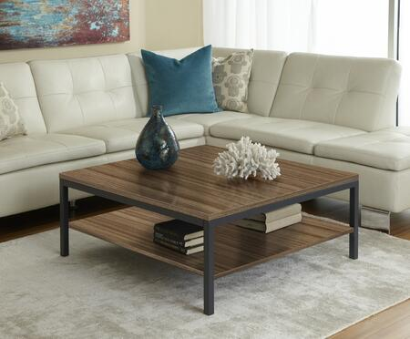 Unique Furniture P3939S Square Coffee Table with Shelf
