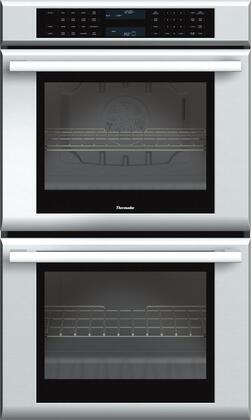 """Thermador ME302J 30"""" Masterpiece Series Double Electric Wall Oven With 9.4 Cu. Ft. Total Capacity, Self-Cleaning, SoftClose Door, And Halogen Lighting: Stainless Steel"""
