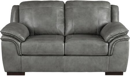 Signature Design by Ashley 1520235 Islebrook Series Leather Stationary with Wood Frame Loveseat