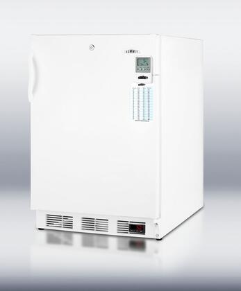 """Summit VT65MLBIMEDDTADA 24"""" Medical Series  Counter Depth Freezer with 3.2 cu. ft. Capacity in White"""