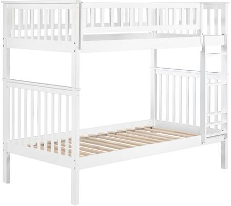 Atlantic Furniture AB561 Woodland Bunk Bed Twin Over Twin In Caramel Latte