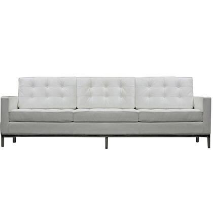 Modway EEI187WHI Loft Series Stationary Sofa