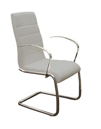 Casabianca CBF3136ARMG Avenue Series Modern Faux Leather Metal Frame Dining Room Chair
