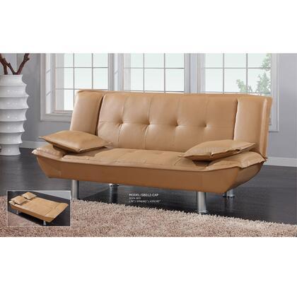 Global Furniture USA SB012TAN  Microfabric Sofa