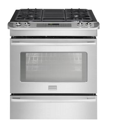 "Frigidaire FPGS3085KF 30"" Professional Series Slide-in Gas Range with Sealed Burner Cooktop Warming 4.2 cu. ft. Primary Oven Capacity"