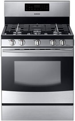 "Samsung NX58F5500SS 30"" Gas Freestanding Range with Sealed Burner Cooktop, 5.8 cu. ft. Primary Oven Capacity, Storage in Stainless Steel"