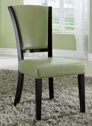 Coaster 103682GRN Dining 1036 Series Casual Vinyl Wood Frame Dining Room Chair