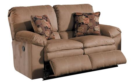 "Catnapper Impulse Collection 1242- 60"" Reclining Loveseat with Pillow Pad Seats, Baseball Stitching and Split Back in"