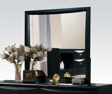 Acme Furniture 0714M Manhattan Rectangular Mirror with Selected Hardwoods and Wood Veneers in