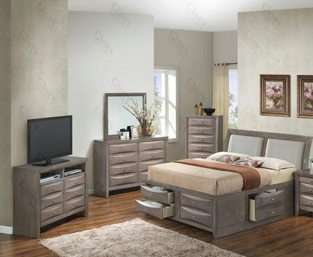 Glory Furniture G1505IQSB4CHDMTV2 G1505 Queen Bedroom Sets