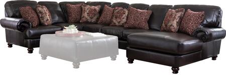 """Jackson Furniture Southport Collection 4467-46-59-30-76- 155"""" 4-Piece Sectional with Left Arm Facing Loveseat, Corner, Armless Sofa and Right Arm Facing Chaise in"""