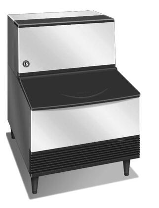 """Hoshizaki KM-201BxH 24"""" Undercounter Self-Contained Ice Maker With 215 lbs. Daily Ice Production, 80 lbs. Ice Storage, Crescent Ice Cube, EverCheck Alert System, And CycleSaver Design: Stainless Steel"""