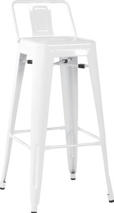 Chintaly 8030BSWHT 8030 Series Residential Not Upholstered Bar Stool