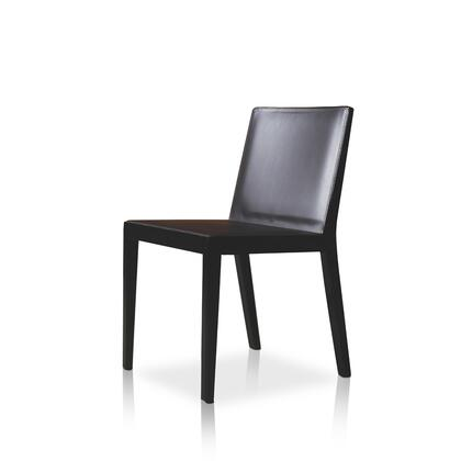 Modloft CDS13000T5C5 Frith Series Modern Leather Wood Frame Dining Room Chair