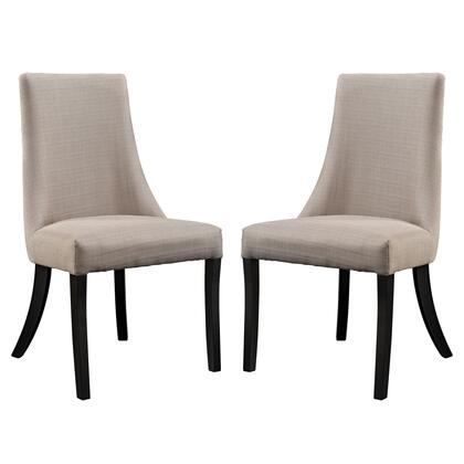 Modway EEI-1297 Reverie Dining Side Chair Set of 2 with Non.-Marking Feet Pads, Durable Parawood Legs, Dense Foam Padding and Microfiber Upholstery