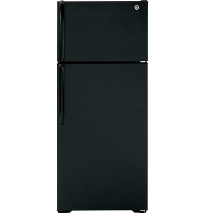 "GE GTH18GCDBB Freestanding Full Size 18.1 cu. ft. No 28"" Top Freezer Refrigerator 