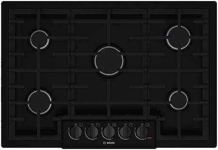 """Bosch NGM8065UC 30"""" 800 Series Gas Sealed Burner Style Cooktop, in Black"""