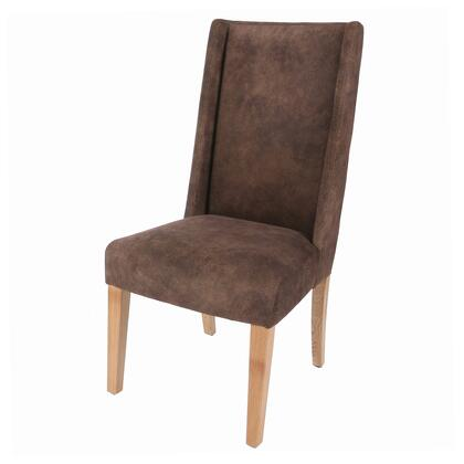 New Pacific Direct Template: Lucas Collection 358244-151 Fabric Chair with Natural Wood Legs in Pewter Hide