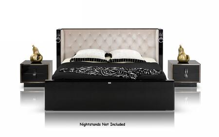 VIG Furniture VGUNRW206-180 A&X Bellagio - Luxurious Transitional Crocodile Lacquer Bed