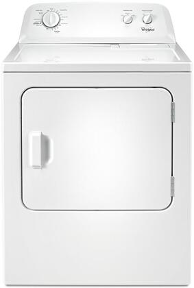 "Whirlpool WxD4616FW 29"" Front Load Dryer with 7 cu. ft. Capacity, Wrinkle Shield Option, 12 Dry Cycles, AutoDry Drying System, Timed Dry, and Powder Coat Drum"