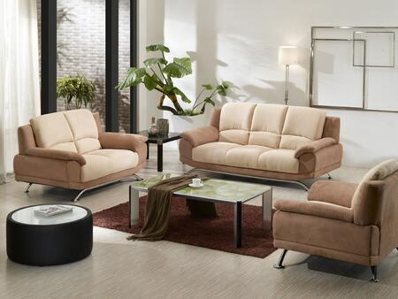 VIG Furniture VGDM2823 Modern Microfiber Living Room Set