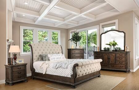 Furniture of America CM7663EKBEDSET Lysandra Queen Bedroom S
