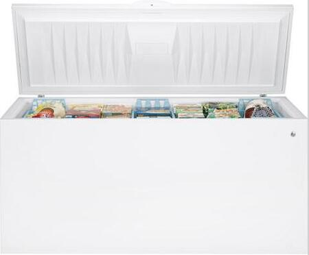 GE FCM25SBWW  Chest Freezer with 24.9 Capacity in White