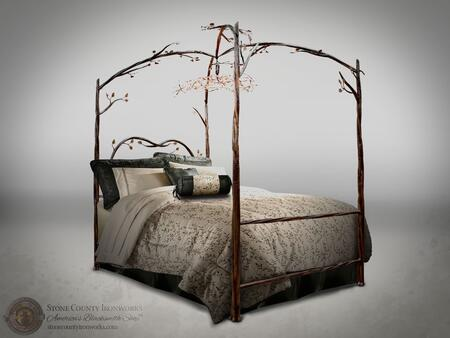 Stone County Ironworks 914339  Queen Size Canopy Bed