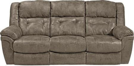 """Catnapper Joyner Collection 90"""" Lay Flat Reclining Sofa with Drop Down Table, Tufted Back, Top-Stitching Treatment and Durable Faux Leather Fabric Upholstery"""