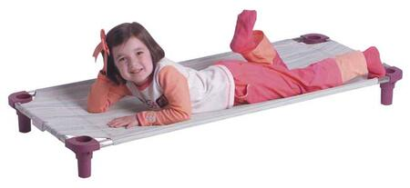 """Mahar 5850TA 40"""" Multi-Colored Striped Assembled Cot With Color Leg (Toddler Size)"""
