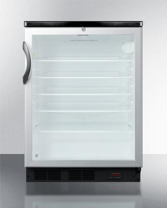 "Summit SCR600LPUBCSSRCx 24"" Wine Cooler with 5.5, Commercially Approved, Digital Thermostat, Automatic Defrost, Interior Liner, Adjustable Glass Shelves, Tempered Glass Door and CFC Free, in Stainless Steel"