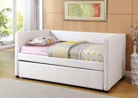 Furniture of America CM1955WHBED Cadiz Series  Twin Size Bed