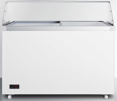 "Summit SCF1312DTPDC 50"" Freestanding Commercial Glass Top Freezer"