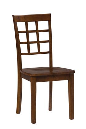 "Jofran Simplicity Collection X52939KD 38"" Grid Back Chair with Solid Rubberwood, Tapered Legs and Casual Style in"