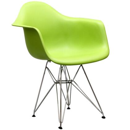 Modway EEI181GRN Paris Series  Metal Frame Dining Room Chair