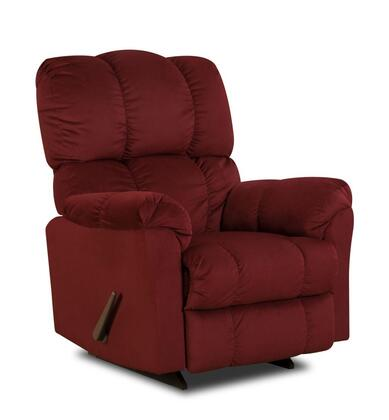 Chelsea Home Furniture 1893204170PWR Michigan Series Transitional Polyester Wood Frame  Recliners