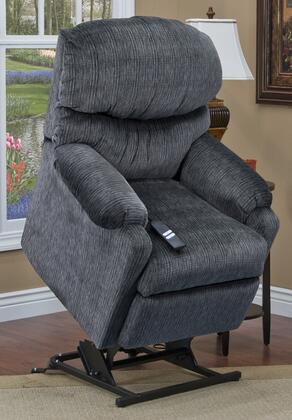 MedLift 1555PVEL Contemporary Fabric Wood Frame  Recliners
