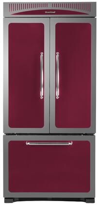 Heartland HCFDR20CRN Classic Series Counter Depth French Door Refrigerator with 19.8 cu. ft. Total Capacity 4 Glass Shelves