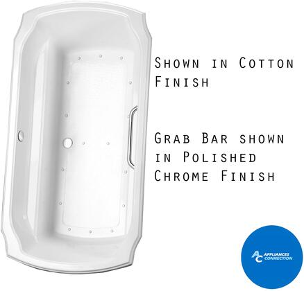 Toto ABR974S12Y Guinevere Series Airbath Tub with Acrylic Construction, Slip-Resistant Surface, and Grab Bar, Sedona Beige Finish