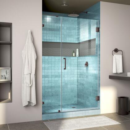 Unidoor Lux Shower Door RS30 30D 14IP 06 Blue Tile