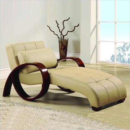 Global Furniture USA 963RLX Modern Faux Leather Chaise Lounge