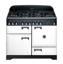 AGA ALEG44ECDWHT Legacy Series Electric Freestanding Range with Smoothtop Cooktop, 2.2 cu. ft. Primary Oven Capacity, Storage in White