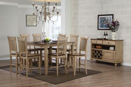 Sunset Trading DLUBR4848CBB70SRPW10PC Brook Dining Room Sets