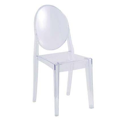 Fine Mod Imports FMI1127CLEAR Armless Not Upholstered Transparent acrylics Frame Accent Chair