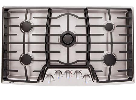 LG LCG3691ST  Gas Built In Style Cooktop