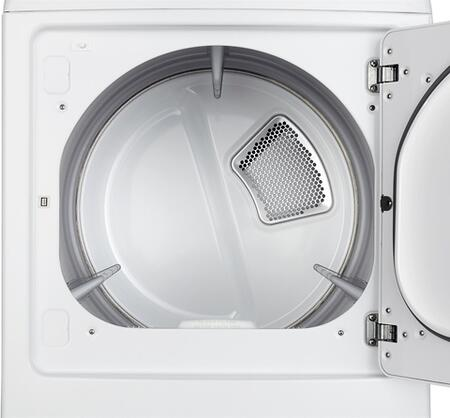 LG DLE1101W Electric Dryer with 7 3 cu  ft  Capacity